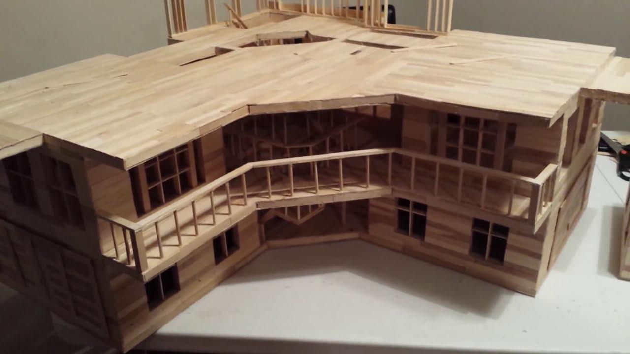 popsicle stick house 2 #beachhouse part 3 - youtube