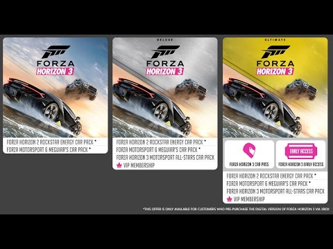 forza horizon 3 ultimate edition giveaway youtube. Black Bedroom Furniture Sets. Home Design Ideas