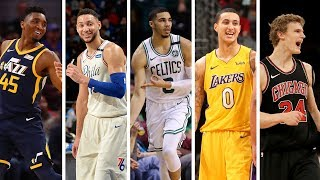 NBA 1st Team All Rookie  Best Plays From Donovan Mitchell Jayson Tatum Ben Simmons  More