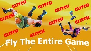 Fortnite (Battle Royale)- How To Glide FOREVER **WTF GLITCH**
