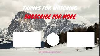 Free Download YouTube Outro ll