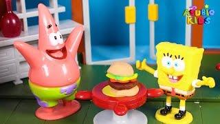 🌟 BOB ESPONJA 🌟 Aventura en el Crustaceo Crujiente   Vídeos de juguetes en español