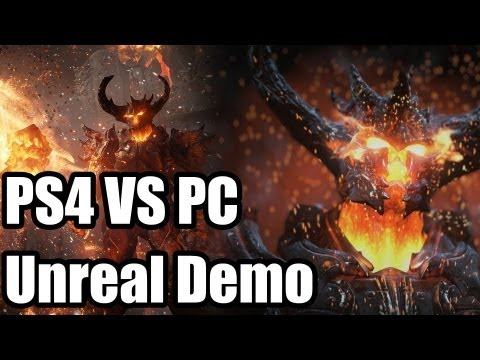 Unreal Engine 4 Elemental Demo - PS4 Vs PC What Changes Were