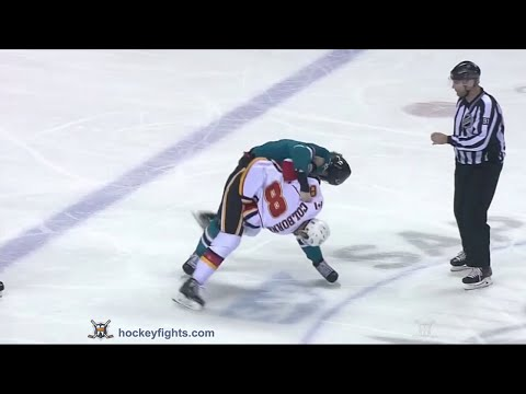 Joe Colborne vs Mirco Mueller Nov 28, 2015