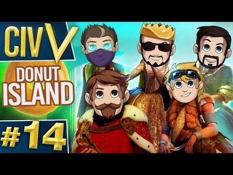 Civ V: Donut Island #14 Rythian Declares War!