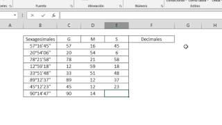 Como ingresar Grados Sexagesimales en Excel (GRADOS, MINUTOS y SEGUNDOS en EXCEL)