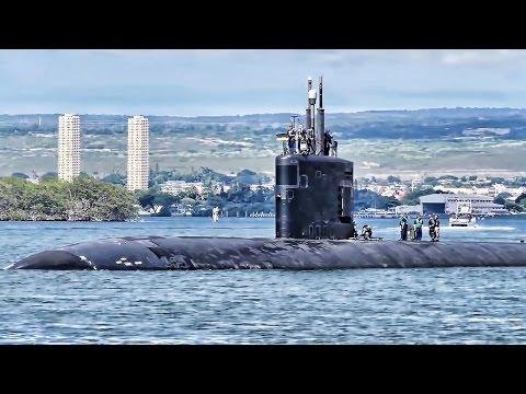 U.S. Nuclear Submarines Arrive & Depart Pearl Harbor