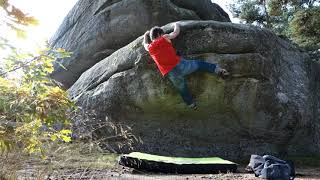 Boulder in St Just in Cantal