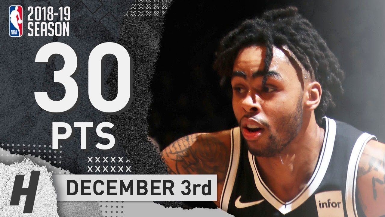 D Angelo Russell Full Highlights Nets vs Cavaliers 2018.12.03 - 30 ... 61f85bbe3