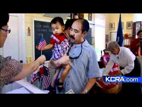Children Become U.S. Citizens In Old Sacramento