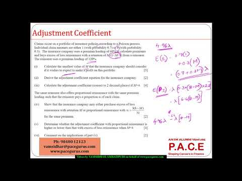 Adjustment Coefficient   Excess of Loss vs  Proportional Reinsurance of same premium
