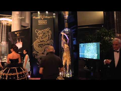 Royal Dragon Vodka at FCC Charity Ball 2013 - Message in a Bottle