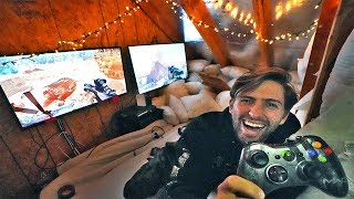 TURNED OUR ATTIC INTO A SECRET VIDEO GAME FORT! #fazeclan