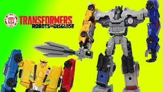 Transformers Combiner Force Menasor Battles Ultrabee and the Autobots!