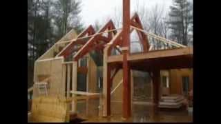 Ontario Home Builders - Building Of Timber Frame Home.