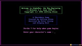 AlphaMan - The New Beginning gameplay (PC Game, 1995)