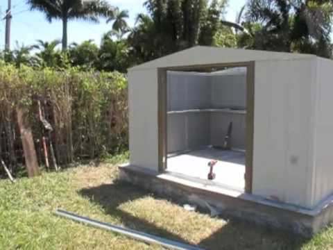 Building A Garden Shed Part 1 Youtube