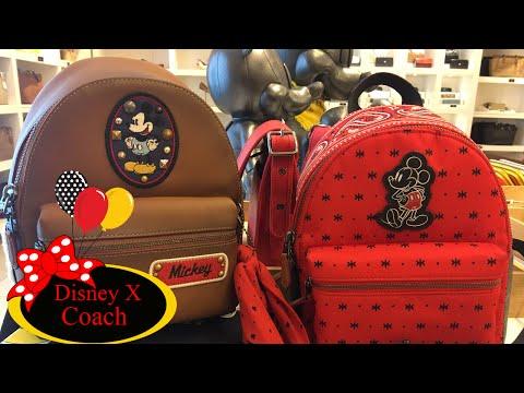 Disney X Coach Designer Haul Unboxingl ! Mini Backpack Wallet Handbag Charms!