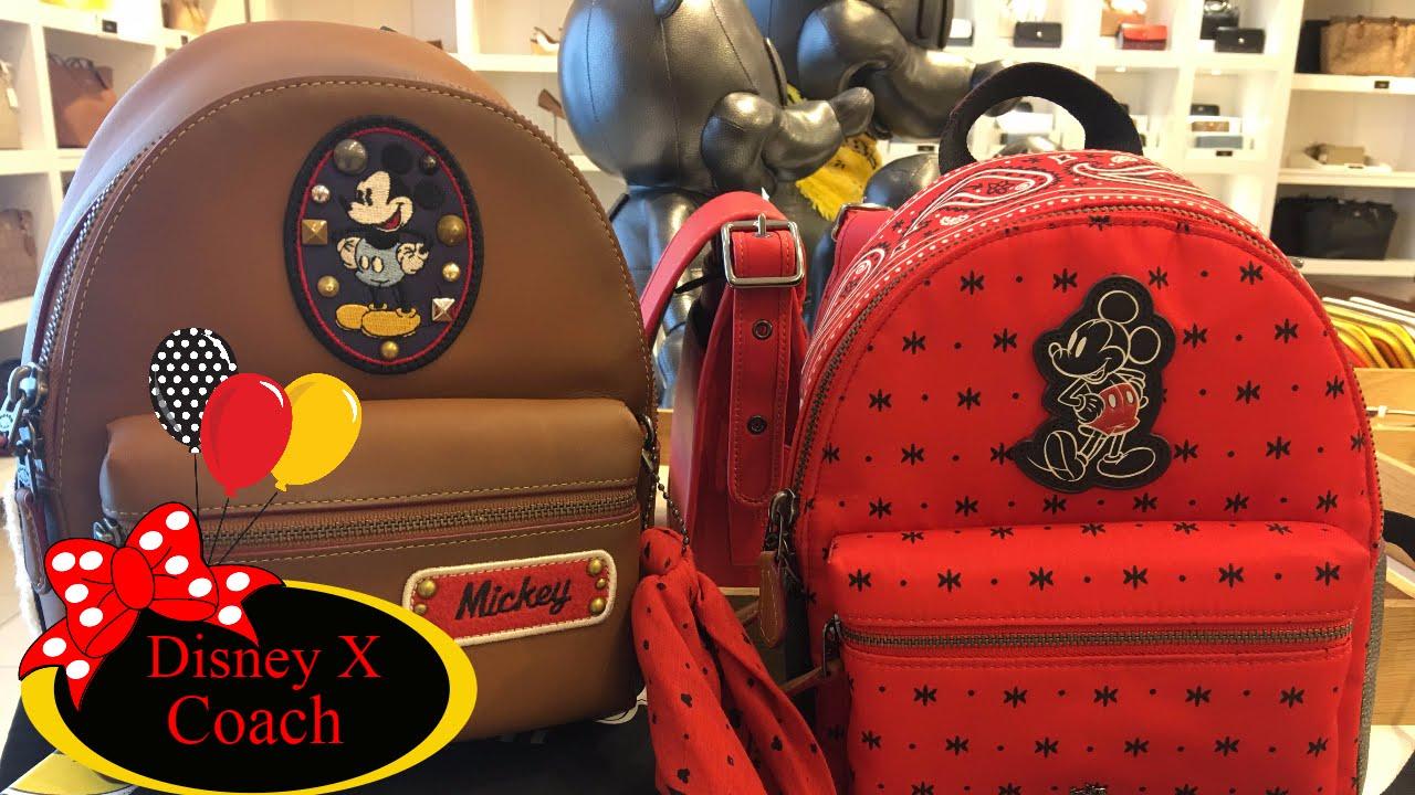 5a2973debb8 Disney X Coach Designer Haul Unboxingl ! Mini Backpack Wallet Handbag  Charms!