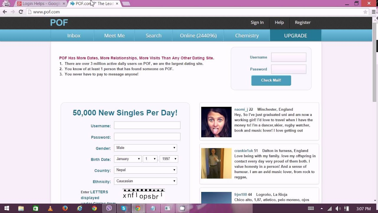 Free online dating account
