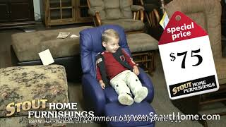 Stout Home Furnishing | Two Tone Dining Set  & Little Leather Kids Recliner