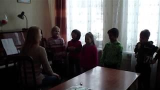 Групповая распевка для детей 6-5 лет.Урок вокала.Разогрев голоса.