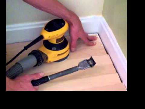 How to sand and finish hardwood floors