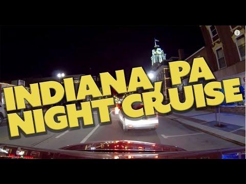 Indiana, PA After Dark!  Cruising West on Philadelphia Street 12-27-14
