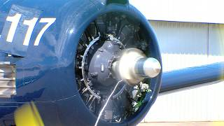 Engine Start Wright R-1820 Cyclone on a T-28 Trojan