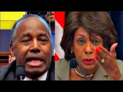 Thumbnail: Maxine Waters makes Ben Carson SQUIRM when asked about Trump's Puerto Rico Tweets 10/12/2017