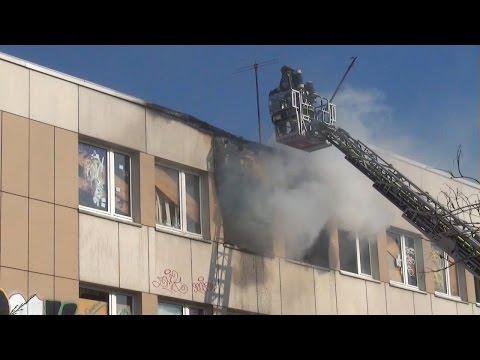 Brand in der alten Feuerwache 4 in Dortmund-Hörde