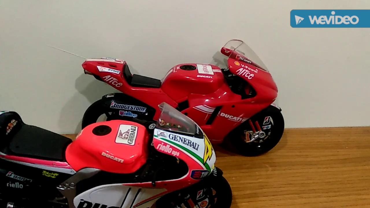 MotoGP bikes in 1:12 & 1:18 scale of Yamaha, Honda Repsol, Ducati by Maisto and minichamps - YouTube