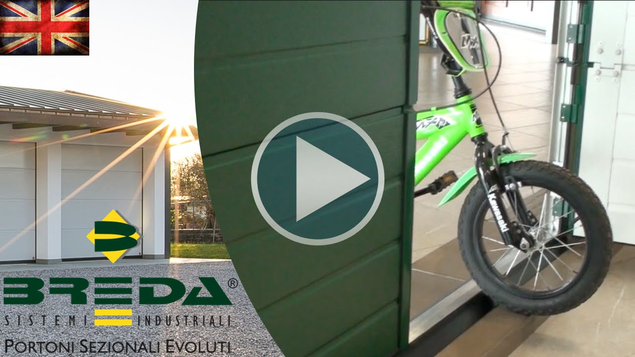 Breda Pedestrian Inserted Door For Sectional Overhead Doors Youtube