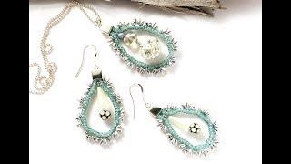 How-To Jewelry Tutorial - SilverSilk Seafoam Earrings & Pendant