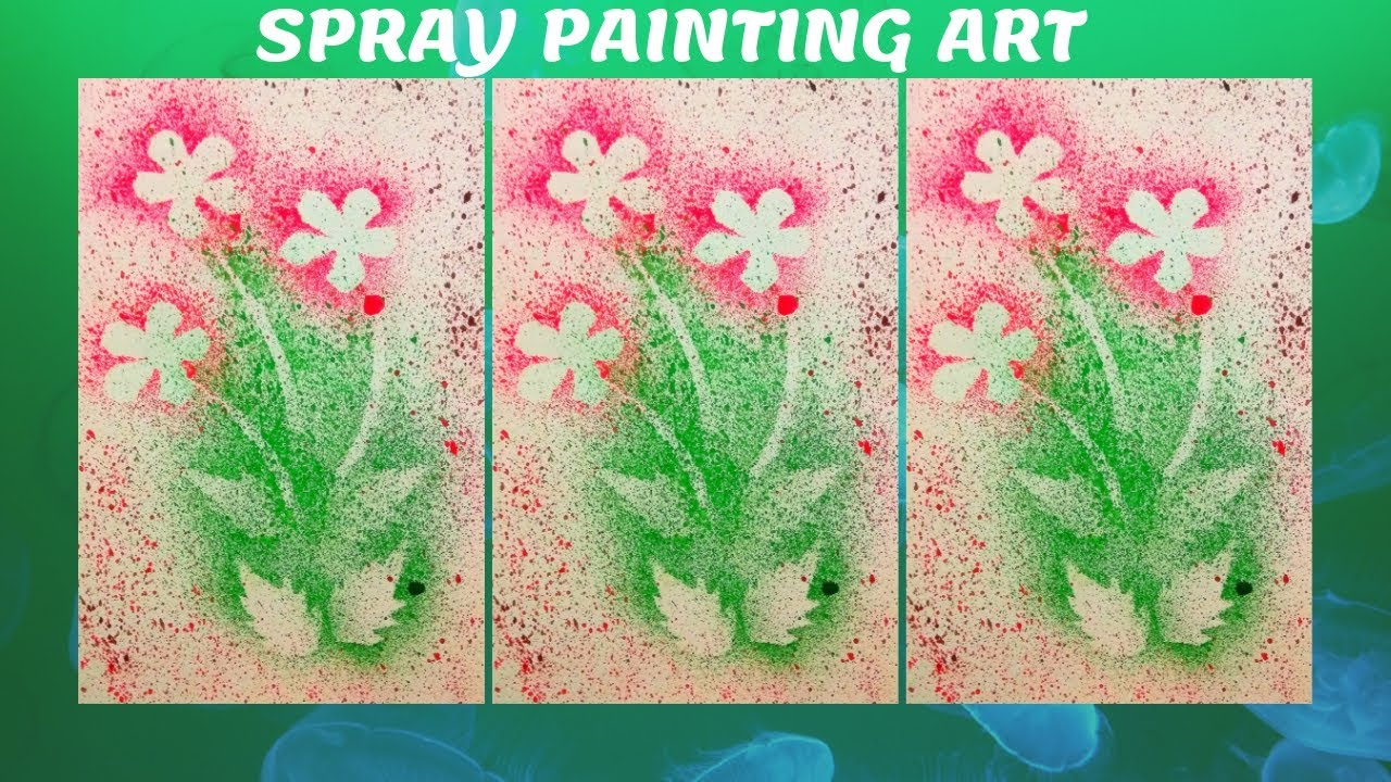 Diy Spray Painting With Tooth Brush Spray Painting Art Easy Spray Painting For Kids Youtube