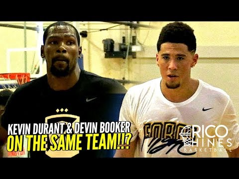 U CAN'T GUARD Kevin Durant & Devin Booker!! CRAZY SCORING CLINIC at Rico Hines UCLA Run!