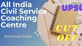 AICSCC  All India Civil Service Coaching Centre ANSWER KEY  CUT OFF   entrance exam
