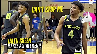 Jalen Green Is a UNICORN w/ A CRAZY SCORING Package!! Prolific Prep vs Huntington Prep!!