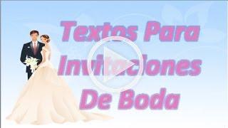 Textos Originales Para Invitaciones De Boda