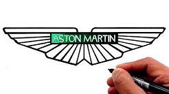 How to Draw the ASTON MARTIN Logo (Famous Car Logos)