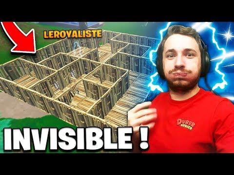 *NEW* JEU INVISIBLE DANS UN LABYRINTHE sur FORTNITE !! thumbnail