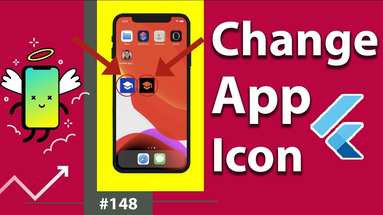 Flutter Tutorial - Change App Icon For Android & iOS [2021] - Flutter Launcher Icons