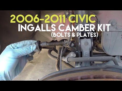 How to Install Ingalls Camber Kit Install (Bolts & Plates) | 2006-2011 Civic
