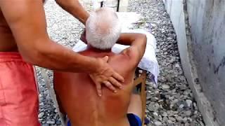 Массаж шейно-грудного отдела мужчине 60 лет  по методу костоправа  Сергий. 9
