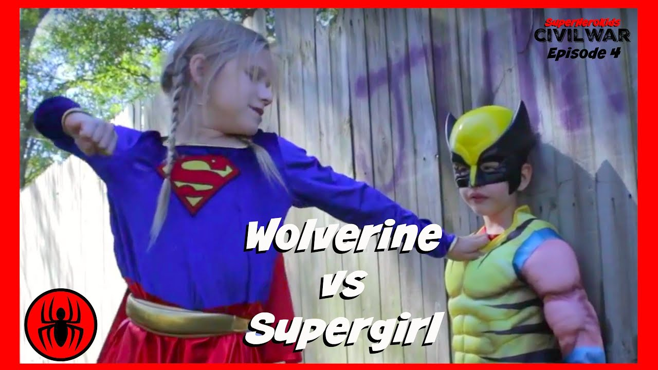 Little Heroes Wolverine Vs Supergirl In Real Life Civil War - 29 real life heroes