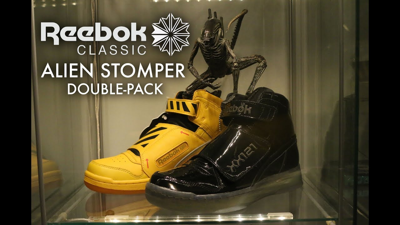 0fd865691609f4 Reebok Alien Stomper  Final Battle  Double-Pack Sneakers Unboxing ...
