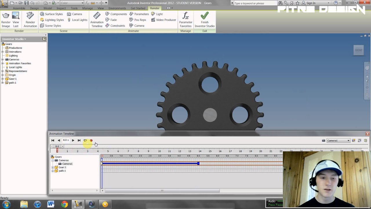 how to delete animations in inventor
