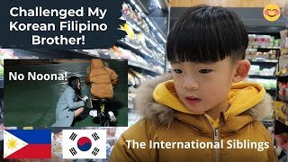 My Korean Filipino Brother Accepts My Challenge| Did he win? | Perks of having a Cute Little bro
