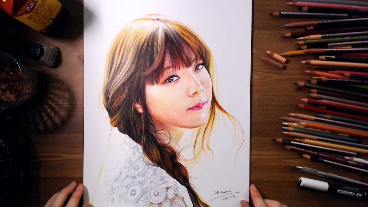 Paper Girls Wallpaper Juniel Colored Pencil Speed Drawing Drawholic Youtube