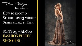 How to shoot in Studio using 3 Strobes Strips & Beauty Dish